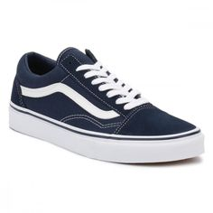 761885cb9b Vans Dress Blue True White Old Skool Trainers ( 72) ❤ liked on Polyvore  featuring