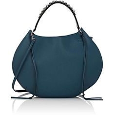 LOEWE Women's Fortune Hobo Bag (186,530 INR) ❤ liked on Polyvore featuring bags, handbags, shoulder bags, blue, blue handbags, hobo handbags, hobo purses, shoulder strap handbags and structured handbags