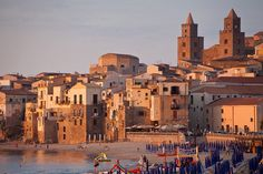 A beautiful sight of #Cefalù #Sicily #Italy #Sunset #Holiday #Hotel #Tourist