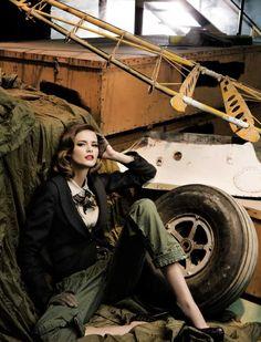 Greta Garbo, Dandy De Altos Vuelos   Flavia de Oliveira   Pascal Chevallier   Elle Spain September 2009