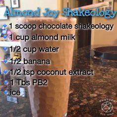 Almond joy Shakeology! Best breakfast ever! #beachbody #shakeology