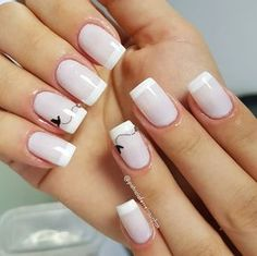 The 90 Vigorous Early Spring Nails Art Designs are so perfect for this Season Hope they can inspire you and read the article to get the gallery. Fancy Nails, Love Nails, Pretty Nails, French Manicure Nails, Diy Nails, Nail Nail, Diy Ongles, Cross Nails, Cross Nail Art