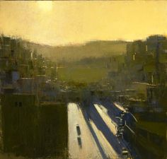 Andrew Gifford - Looking West from the Rooftop of the Asia Hotel, Evening 2011