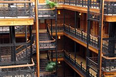The Bradbury Building is an architectural landmark in Los Angeles, California. The building was built in 1893 and is located at 304 South Broadway.