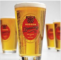 Personalized beer glasses for Father's Day | Cool Mom Picks