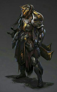 Fighter Knight Admantium Armor - Pathfinder PFRPG DND D&D d20 fantasy
