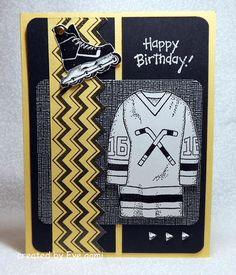 Easy to make -Hockey Birthday Card