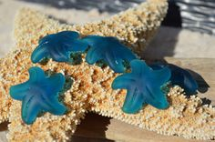 32 mm 1 piece Large TEAL Starfish cultured by SeasideJewelry1, $2.75