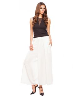 How to wear whites this Summer: Palazzo pants available on www.styleto.co