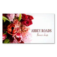 Floral Business Cards Rose Bouquet