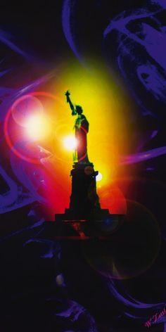 Walter Zettl: Freiheitsstatue New York - Leinwandbild auf Keilrahmen Leinwandbilder