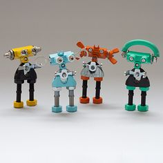 THE OFFBITS are Open Source robots made from spare parts such as springs, bolts, nuts and.. You can add whatever you like! For starters kits check our #kickstartercampaign at www.theoffbits.com #theoffbits #diytoys #cooltoys #makers #mini #robot #robots #love #cute #fun #create #iwantit #ilikeit #diy #opensource #kickstarter #toys #toyscollection #toyscollector #toyscommunity