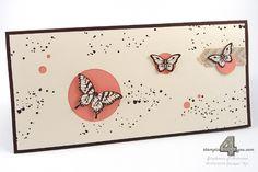 Stampin' Up! Papillon Potpourri Karte Schmetterlinge Kreise Gorgeous Grunge