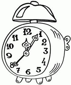 Epic Alarm Clock Coloring Page