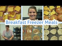 Large family ONCE A MONTH Breakfast FREEZER MEALS - YouTube Budget Freezer Meals, Freezer Cooking, Frugal Meals, Bulk Cooking, Budget Recipes, Budget Meal Planning, Cooking On A Budget, Clean Eating Soup, Clean And Delicious