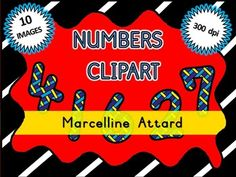 STRIPY NUMBERS CLIPART - NUMBERS 0 TO 9 - OK FOR COMMERCIAL USE