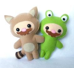 Tanooki & Frogsuit Mario Plushies. I'm in love.