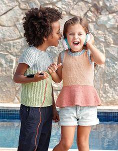 Revista Niños 77 Primavera / Verano | 6: Niños Top | Rosa claro / Rosa / Azul claro