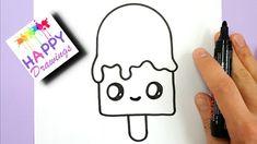 draw ice cream drawings easy kawaii disegni happy facili melting belli step gelato nero disegnare ma fare drawing semplici pennarello