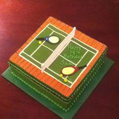Tennis cake Birthday Bash, Birthday Cakes, Fondant, Tennis Cake, Cupcake Cakes, Cupcakes, Bar Mitzvah, Rackets, Baked Goods