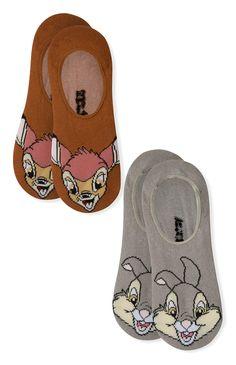 #Primark - 2 Pack Bambi Thumper Invisible Socks #Disney £2.50