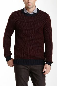 Crew Neck Wool Blend Sweater by Antony Morato on @HauteLook
