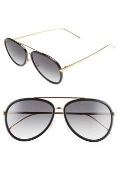 Fendi Fendi 57mm Aviator Sunglasses available at #Nordstrom