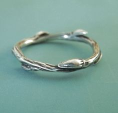 A personal favorite from my Etsy shop https://www.etsy.com/listing/59244181/sterling-silver-twig-ring-willow