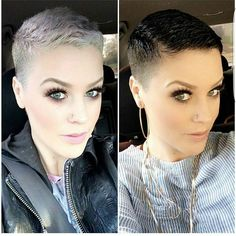 "7,911 Likes, 431 Comments - Short Hair  Pixie Cut Boston (@nothingbutpixies) on Instagram: ""Which colour do you like better?.. Left or right on @katiezimbalisalon"""