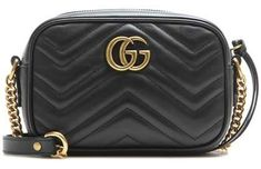 Shop GG Marmont Mini matelassé leather crossbody bag presented at one of the world's leading online stores for luxury fashion. Gucci Shoulder Bag, Crossbody Shoulder Bag, Shoulder Handbags, Shoulder Bags, Shoulder Strap, Gucci Marmont Bag, Dior, Mini Crossbody Bag, Black Crossbody