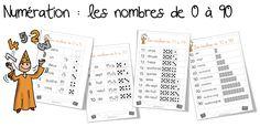 Leçons : les nombres de 0 à 5, 6 à 10 , 11 à 19 et 10 à 90 | Bout de Gomme