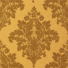 Thibaut Filigree - Sydney Damask - Wallpaper - Metallic on Gold