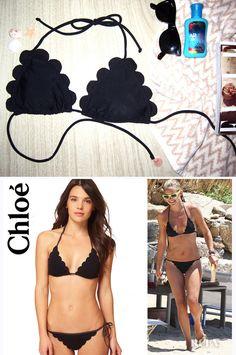 Copia esta bikini de Chloe con bordes ondulados. | 25 Fantásticos trajes de baños para hacer tú misma que debes probar este verano