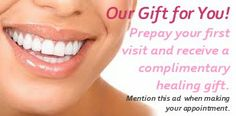 Prepay for your first dental visit and receive a free healing gift. Call us at 212 947-0073 in NYC.  The Brand Wellness Center - Holistic & Natural Dentistry - Enlightened Dentistry Thank you for Repinning!