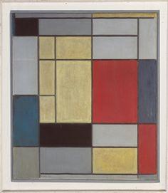 PIET MONDRIAN (1872-1944)  Composition I  signé des initiales et daté 'PM 20' (en bas à gauche); signé, titré et numéroté 'no. I Composition I PIET MONDRIAN' (sur le châssis) huile sur toile  75.2 x 65 cm. (29 5/8 x 25 5/8 in.)  Peint en 1920; dans son cadre d'origine