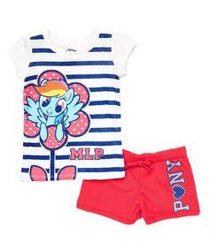 Look at this #zulilyfind! My Little Pony Tank & Shorts - Toddler & Girls by My Little Pony #zulilyfinds
