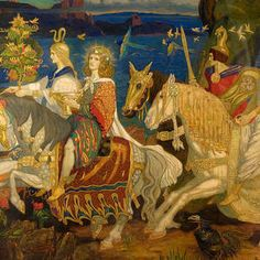 Riders of the Sidhe (John Duncan). John Duncan, Irish Mythology, Three Witches, Painting Prints, Paintings, Medieval Gothic, Future Vision, Templer, Supernatural Beings