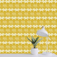 Tapete Marygold Muster Ulala-Vienna Vienna, Curtains, Home Decor, Serenity, Wallpapers, Blinds, Decoration Home, Room Decor, Draping