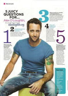 Hawaii Five-0 star gives us the details on love, life, and women – By Sheila Monaghan Women's Health January 2012 1. Since your job is very physical, how do you chill out? Alex: I live …