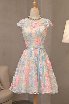 flowery vintage prom dress