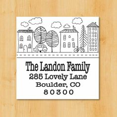 Return Address Labels  Address Labels 2 Inch Square by Toodle Loo Workshop