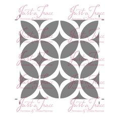 Pinwheel Pattern Stencil 6-Inch Size by justatraceco on Etsy
