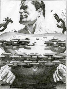 Superman milk ad layout art by Alex Ross Comic Book Artists, Comic Book Characters, Comic Book Heroes, Comic Artist, Comic Character, Comic Books Art, Alex Ross, Marvel Comics, Arte Dc Comics
