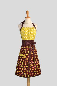 Vintage Apron | Cute Kitsch Retro Apron - Fall Kitchen Womens Apron in Cute Owls with ...