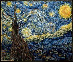 Starry Night mosaic by Van Gogh - aliciatappdesigns.com