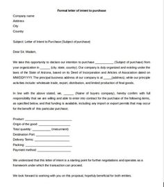 18 best free letter of intent templates images on pinterest resume letter of intent to purchase business template sample letter of intent to purchase business 8 documents in pdf letter of intent for business purchase cheaphphosting Image collections