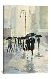 iCanvas 'City in the Rain - Avery Tillmon' Giclée Print Canvas Art