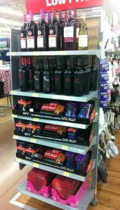 Everything for your date night. Thank you Walmart! Lol