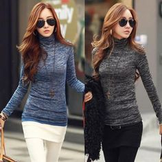 548430a9bf 2018 Autumn Winter Fashion Sweater Women Pullovers Top Turtleneck Long  Sleeve Slim Knitted Sweater Bodycon Crochet