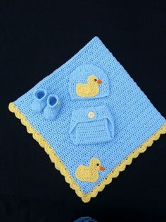 Crochet Baby Duck set.